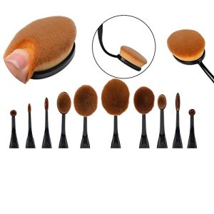 Dreamland-Regalo-para-ella-maquillaje-El-nuevo-profesional-de-10-PC-Soft-Oval-cepillo-de-dientes-de-los-sistemas-de-cepillo-del-maquillaje-Cepillos-Fundacin-Crema-Contorno-Powder-Blush-Pincel-Correcto