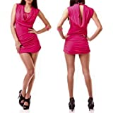 Sexy Damen Kleid aus Spitze Dress Minikleid Partykleid Wasserfall in 5 Farben Onesize 34-36-38