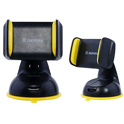 REMAX 吸盤式車載ホルダー ダッシュボード フロントガラス 360度回転 横幅50cm〜85cm調整可 iPhone5 / 6 / 6s Plus / Galaxy S7 Edge / Xperia カー用品 スタンド