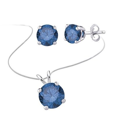 Blue-Diamond-Solitaire-Stud-Earrings-and-Necklace-jewelry-Set-in-14k-White-Gold-12-cttw
