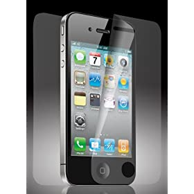 Acase(TM) Apple iPhone 4 4S AcaseView Screen Protector Film Clear (Invisible) for iPhone 4 4S AT&T and Verizon and Sprint (3 Pack + 3 Bonus Back Films)