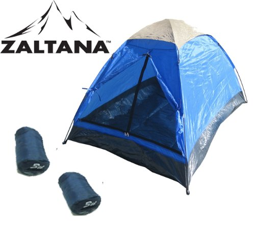 2 PERSON TENT WITH 2PCS SLEEPING BAG SET