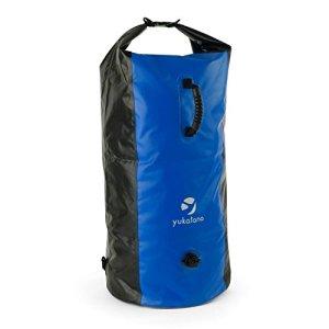 Yukatana-Quintoni-120-Seesack-mochila-120-litros-impermeable-Petate-resistente-agua-correas-ajustables-apto-guardar-ropa-mojada-cremallera-protegida-ideal-playa-natacin-negroazul