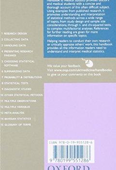 Livres Couvertures de Oxford Handbook of Medical Statistics