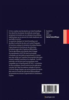 Livres Couvertures de Calcul Scientifique: Cours, exercices corrigés et illustrations en Matlab et Octave (French Edition)