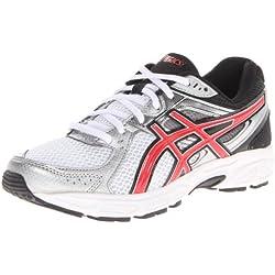 ASICS Men's Gel Contend 2 Running Shoe,White/Red/Black,11 M US