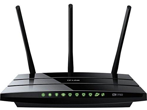 TP-LINK Archer C7 Router Wireless Dual Band AC 1750Mbps, 4 Porte LAN Gigabit Ethernet, 2 Porte USB Multifunzione (WPS, Tecnologia AC)