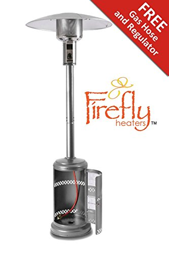 41kDIaHPNBL - BEST BUY #1 Firefly 12kW Premium Stainless Steel Garden Outdoor Gas Patio Heater with Canister Door and Wheels