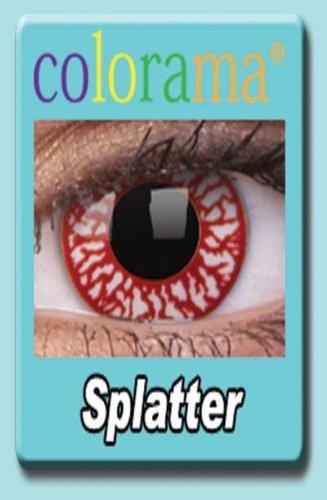 Farbige Kontaktlinsen Crazy Lenses Kostüm Karneval SPLATTER