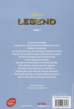 Livres Couvertures de Legend - Tome 1