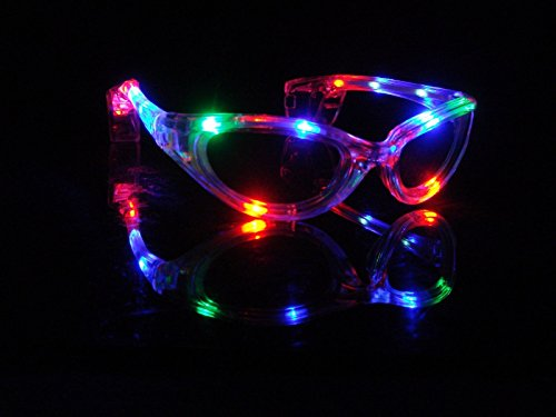 WeGlow International Flashing Multi Color Sunglasses (2 pack)