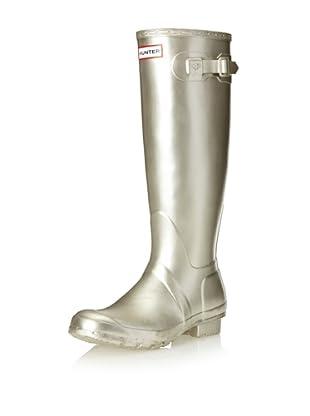 Hunter Boots Women's Classic Tall Original Rainboot (Gold Metallic)