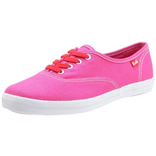 Keds Champion Oxford Fuchsia Damen Schuhe Sneakers Freizeitschuhe Sportschuhe Turnschuhe Low Canvas für Frauen Fuchsia Pink Größe D 42 UK 8