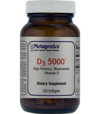 Metagenics, D3 5000, 120 Softgels