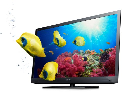Sony Bravia KDL-46EX725BAEP 117 cm (46 Zoll) 3D Edge LED Fernseher, Energieeffizienzklasse A  (Full-HD, Motionflow XR 200Hz, DVB-T/-C/-S2) schwarz