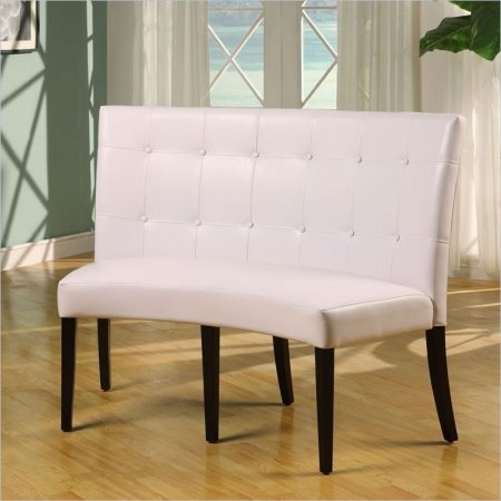 Upholstered Bench With Back