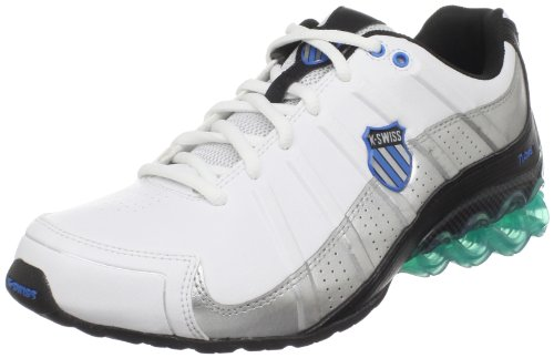 K-Swiss CLEAR TUBES RUN 50 02642-110-M Herren Sportschuhe - Fitness, weiss (white/black/brilliant blue), EU 46, (UK11)