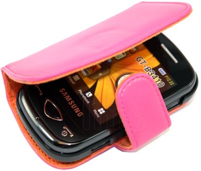 HOT PINK WALLET LEATHER CASE COVER II FOR SAMSUNG CORBY PLUS B3410 + SCREEN