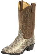 Tony Lama Men's Rattlesnake Cowboy Boot Round Toe