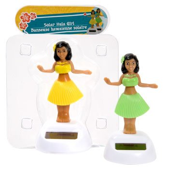 Plastic Solar-powered Dancing Hula Girls (Assorted Colors)