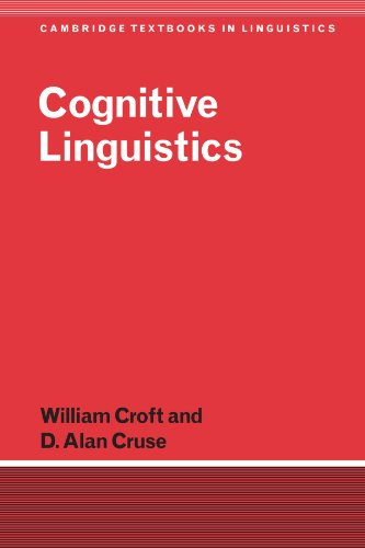 Cognitive Linguistics (Cambridge Textbooks in Linguistics)