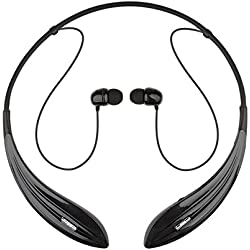 Ecandy Bluetooth Headsets Noise Cancelling Wireless Stereo Sport Headset Headphones for iPhone 6/5s/5c/5/4s/4,Samsung Galaxy S6/S5/S4/S3,LG,Ipad,Ipod, Smartphones and Other Bluetooth Device,Black