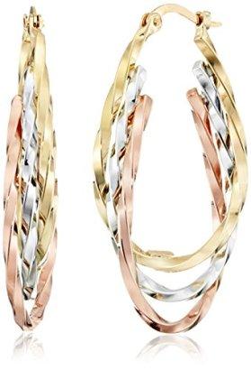 14k-Gold-Tri-Color-Triple-Hoop-Earrings-1-Diameter