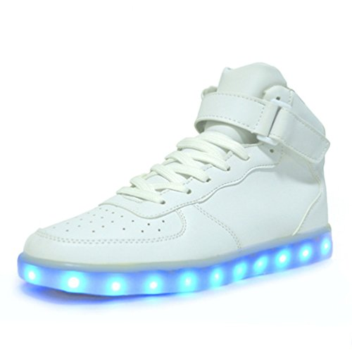 ToLFE Women High Top USB Charging LED Light Up Shoes Flashing Sneakers