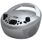 Coby CXCD251SVR Portable CD Player with AM/FM Radio, Silver for $28.26 + Shipping