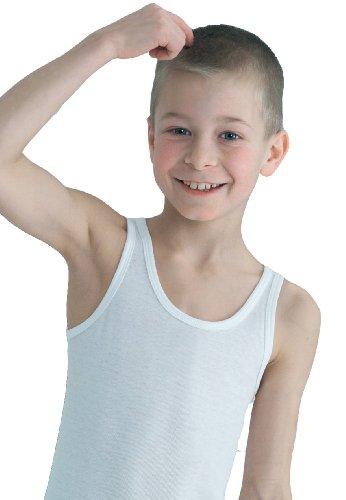 HERMKO 2800 4er Pack Knaben Unterhemd aus 100% europäischer Baumwolle, Tank Top aus reiner Naturfaser direkt ab Fabrik für Jungs, Kinder Shirt
