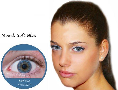 Farbige Kontaktlinsen Blau 3 Monatslinsen Contact lenses Design: Soft Blue