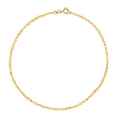 10K-Yellow-Gold-Mariner-Link-Anklet-10-Inches