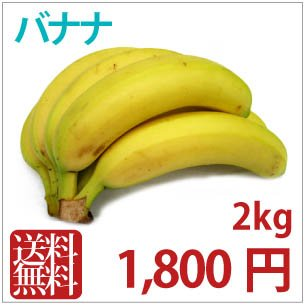 【バナナ2k】燻蒸処理をしていない安全なコロンビア産オーガニックバナナ2kg