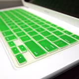 TopCase® GREEN Keyboard Silicone Cover Skin for Macbook 13