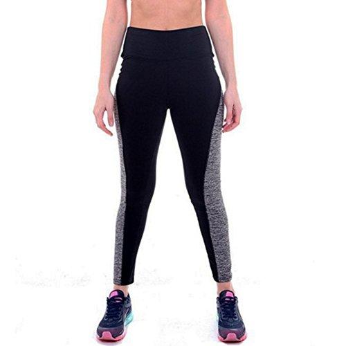 Tiaobug Damen Workout Sporthose Yoga Pants Fitness Jogginghose Training Sport Leggings Stretch Hose S-3XL