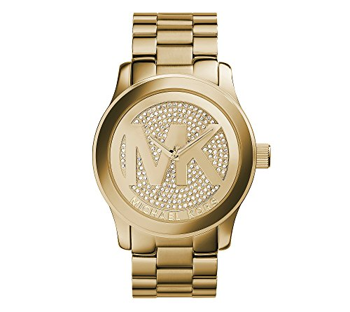 s goldtone oversized logo runway watch,michael kors women,video review,(VIDEO Review) Michael Kors Women's Goldtone Oversized Logo Runway Watch,