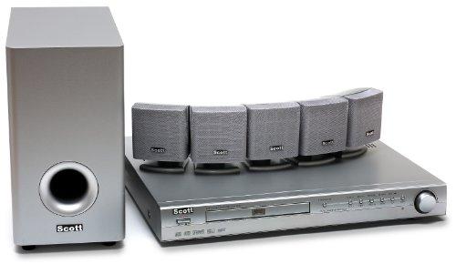 Scott 851 Slim Heimkinosystem (5.1, DVD Multiplayer, 210W, 3D DSP) silber