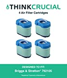 41nBsZvL8%2BL. SL160  - BEST BUY #1 4 Briggs & Stratton 276890, 792105, 4233, 5405H & 5405K Air Filter Cartridge Fits V-Twin 16.0-27.0 HP Engines, Also Fits John Deere GY21057, MIU11515 & MIU11517, Stens 102-008 & Oregon 30-145, Compare to Part # 792105, Designed & Engineered by Think Crucial Reviews and price