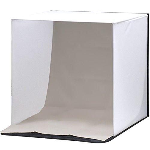 ottostyle.jp 撮影ボックス 50×50cm 【簡単組み立て式】 3バリエーション背景付き(ブラック/ホワイト/グレー)【フィギュアや模型、小物などの撮影ブースに最適!