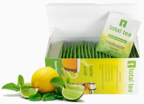 Herbal Green Energy + Doctor Recommended + 25 Individually Wrapped Tea Bags + 5 Potent All Natural Herbs for Diet Energy Weight Loss + Delicious Light Berry Aroma + Satisfying Customers for 10 Years