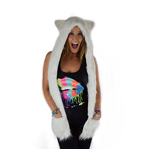 Dem Vibes Light Up Furry Hood Rave LED Spirit Hood