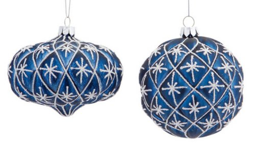 royal blue Christmas baubles