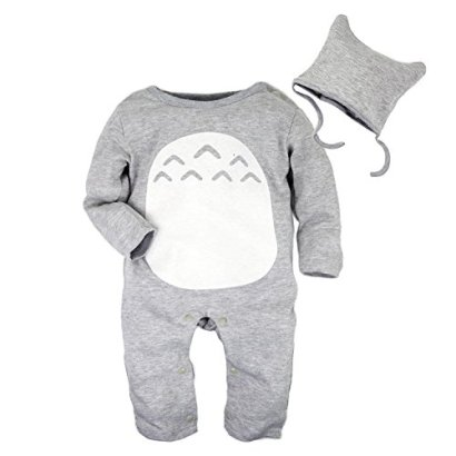 Big-Elephant-2-Pieces-Baby-Boys-Long-Sleeve-Totoro-Romper-with-Hat-Set-D76-3-6-Months-Gray-Tag-Size80