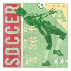 Soccer Ticket Canvas Reproduction