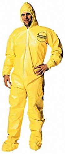 Dupont Large Yellow Tychem Qc Chemical Protection Coveralls