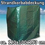 11371 Strandkorb Abdeckung Schutzhülle Abdeckplane für 1,20m breite Strandkörbe