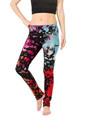 Orient Trail Women's Hippie Tie-dye Yoga Dance Stretch Pant Leggings