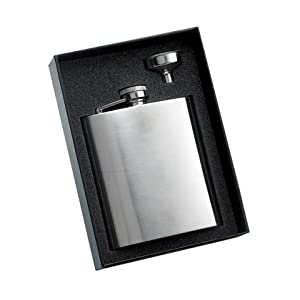 Cheap 8oz Hip Flask Gift Set - Personalized for Free