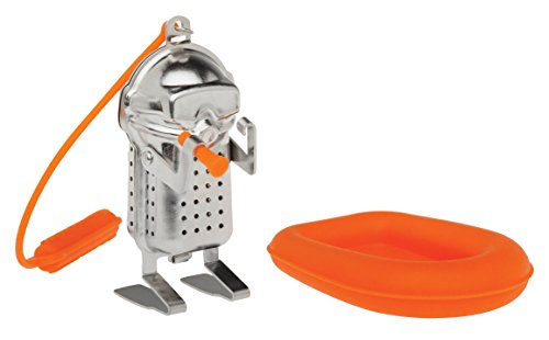 HIC Tea Infuser with Drip Tray, Scuba Diver and Raft
