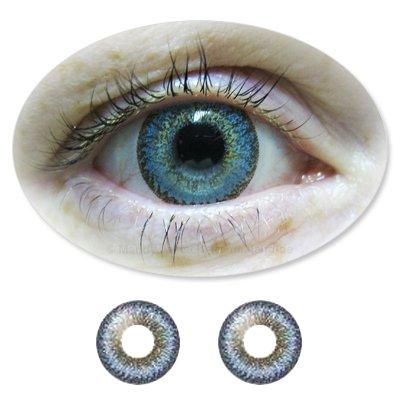 Farbige Kontaktlinsen Monatslinsen Fun ColorNova Blue /Blaue ohne Stärken / Dioptrien